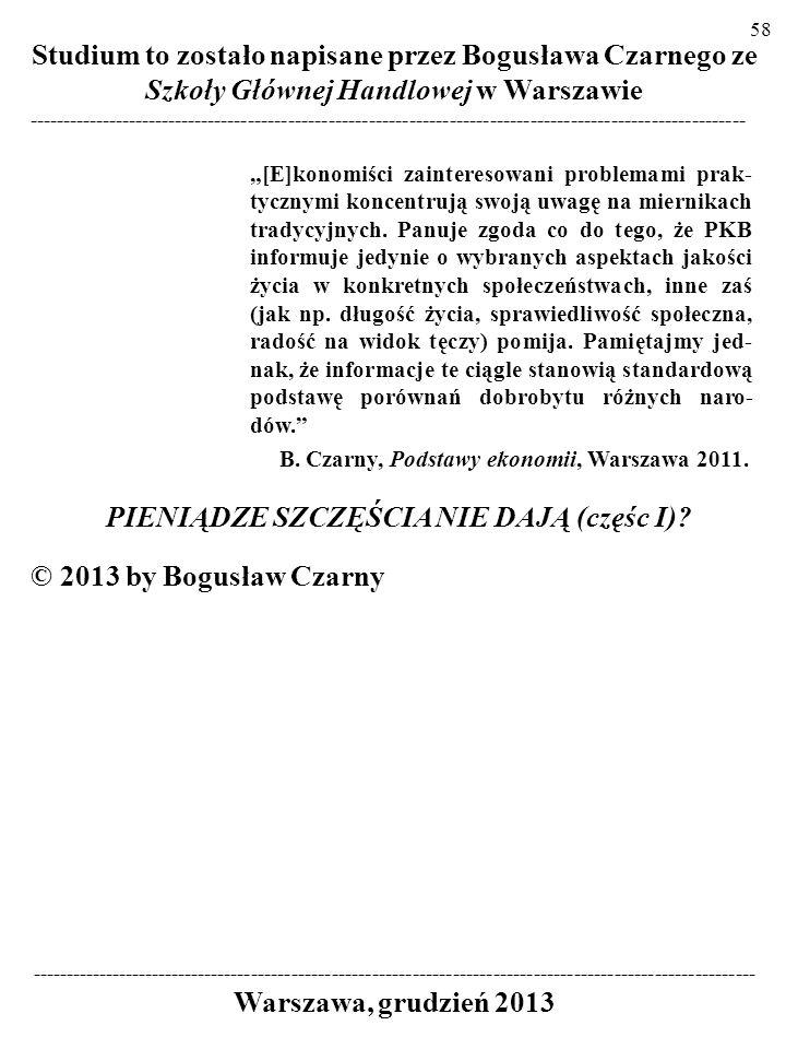 57 KRYTYCY PODWAŻAJĄ USTALENIA EASTERLINA, np.