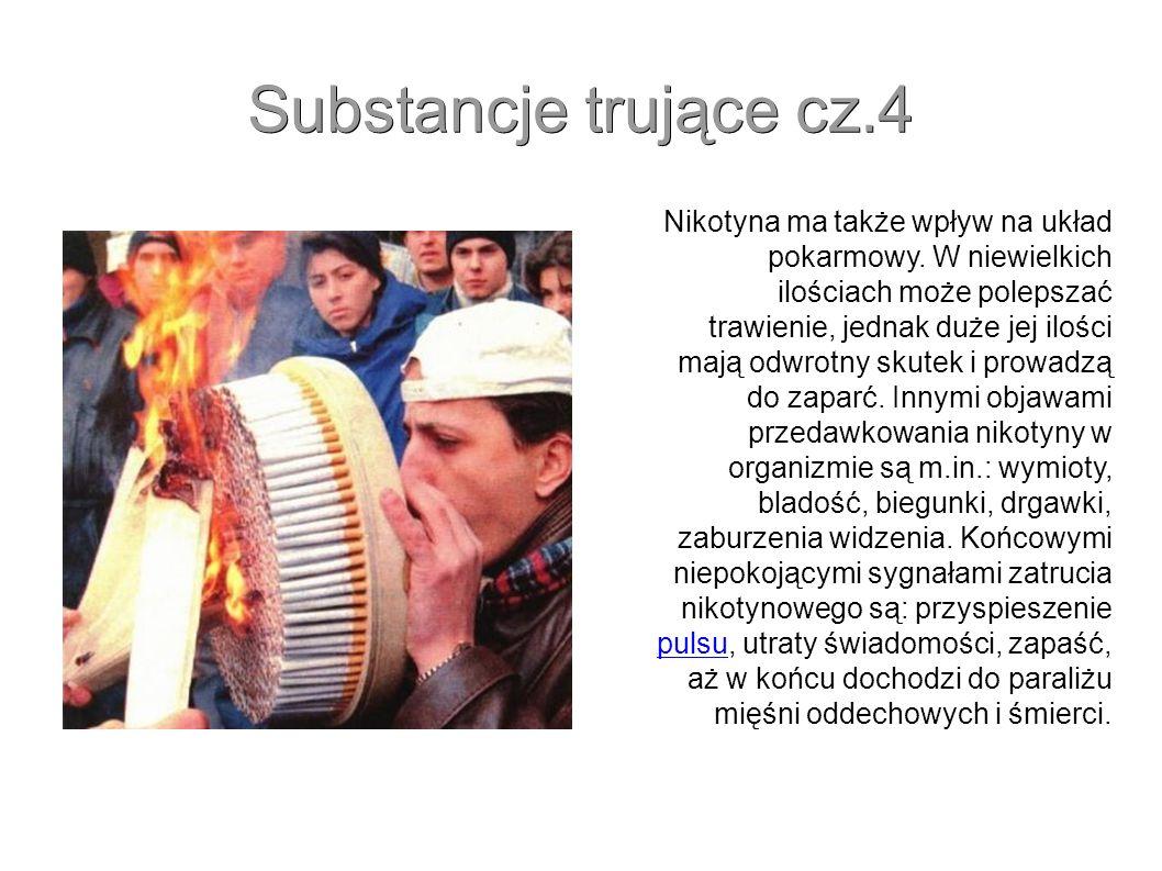 O substancjach zawartych w papierosie.