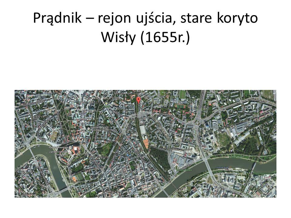 Prądnik – rejon ujścia, stare koryto Wisły (1655r.)