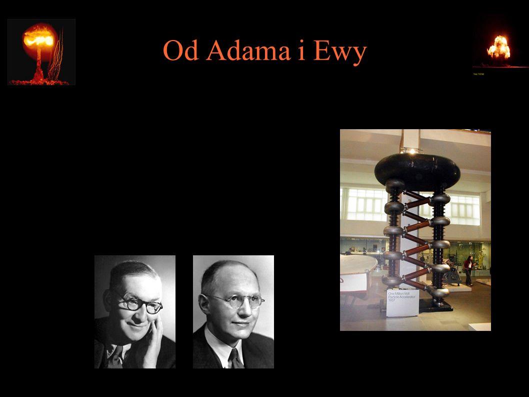 Od Adama i Ewy ● 1932 – pierwsza całkowicie sztuczna reakcja jądrowa (John Cockroft, Ernest Walton)