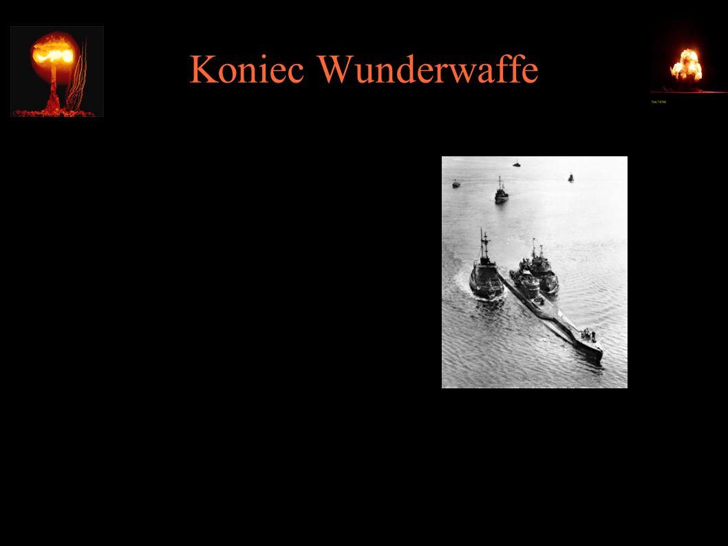 Koniec Wunderwaffe ● Próba ewakuacji technologii do Japonii na pokładzie U-234 ● Poddał się USS Sutton 10.05.1945 ● Hideo Tomonaga i Genzo Shoji popełnili samobójstwo ● Przejęto m.in.