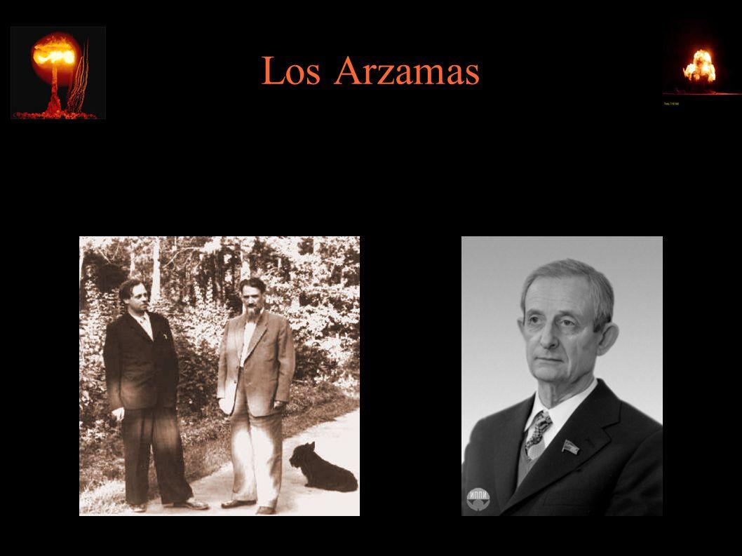 Los Arzamas ● 1945 – ośrodek w Sarowie (przemianowanym na Arzamas-16): Igor Kurczatow, Jakow Zeldowicz, kierownik naukowy: Juli Charyton (do 1992)