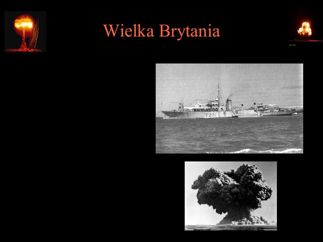 """Wielka Brytania ● 3.10.1952 – """"Operation Hurricane"""", test jądrowy na pokładzie HMS Plym u wybrzeży Trimouille Island, w-y Monte Bello, Australia; ~25k"""