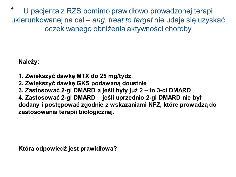 U pacjenta z RZS pomimo prawidłowo prowadzonej terapi ukierunkowanej na cel – ang.