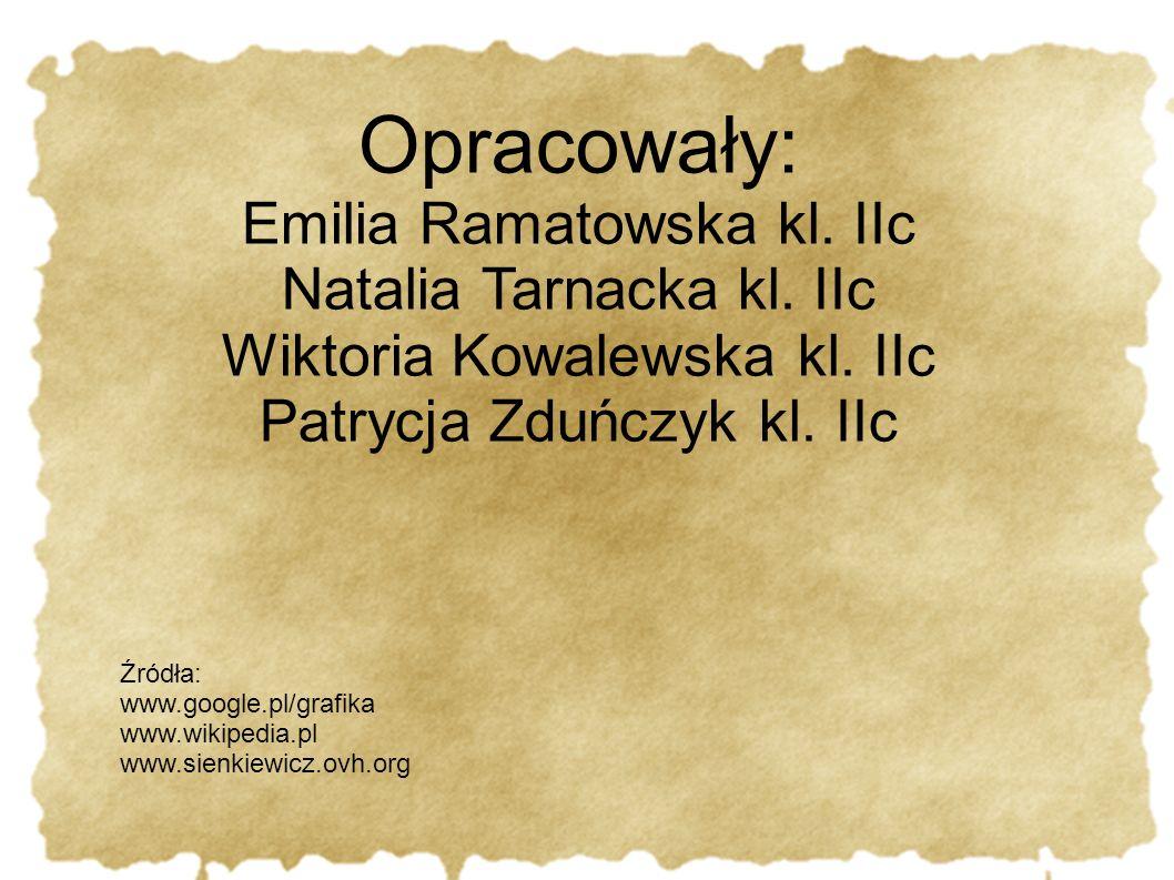 Opracowały: Emilia Ramatowska kl. IIc Natalia Tarnacka kl. IIc Wiktoria Kowalewska kl. IIc Patrycja Zduńczyk kl. IIc Źródła: www.google.pl/grafika www