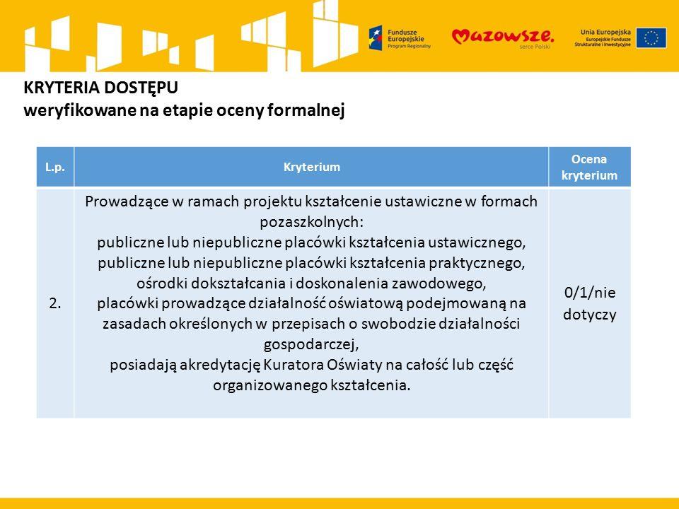 L.p.Kryterium Ocena kryterium 2.