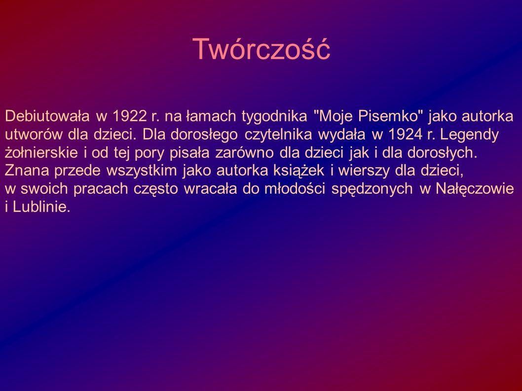 1922: A było to tak 1922: Przedziwne przygody duszka Dzińdzinnika 1924: Legendy żołnierskie 1925: A...a...a...