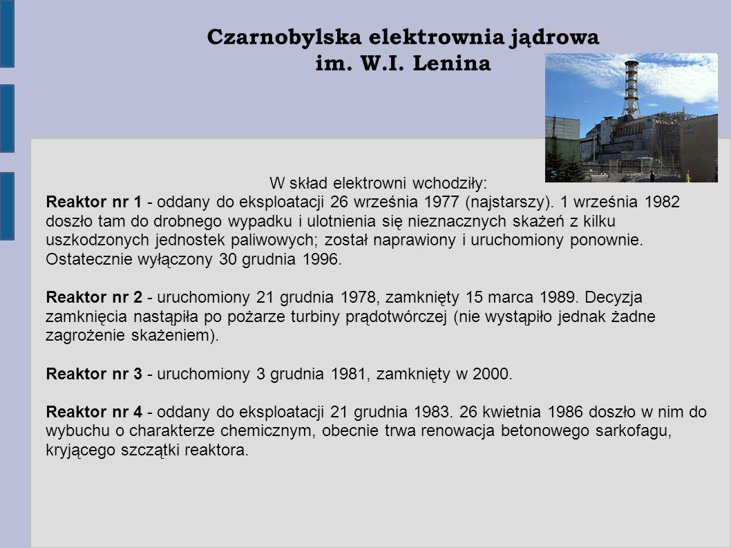 Czarnobylska elektrownia jądrowa im. W.I.