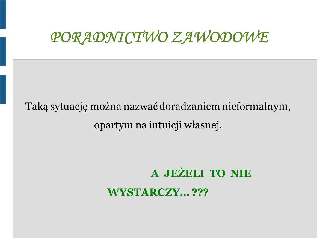 PORADNICTWO ZAWODOWE !!.WYSZUKAJ !!.