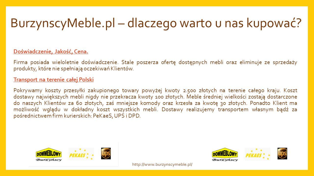 BurzynscyMeble.pl – dlaczego warto u nas kupować. Doświadczenie, Jakość, Cena.