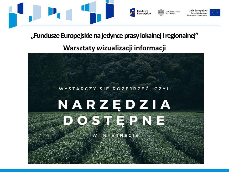 """""""Fundusze Europejskie na jedynce prasy lokalnej i regionalnej Warsztaty wizualizacji informacji"""