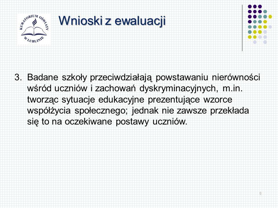 29 Wspomaganie Zakres zadań realizowanych w ramach wspomagania: przygotowywanie i podawanie do publicznej wiadomości na stronie internetowej organu analiz wyników sprawowanego nadzoru pedagogicznego, w tym wniosków z ewaluacji zewnętrznych i kontroli (30 sierpnia 2013), upowszechnianie przykładów dobrych praktyk, promowanie wykorzystania ewaluacji w procesie doskonalenia jakości działalności dydaktycznej, wychowawczej i opiekuńczej oraz innej działalności statutowej szkoły lub placówki, organizowanie konferencji i narad dla dyrektorów szkół i placówek.