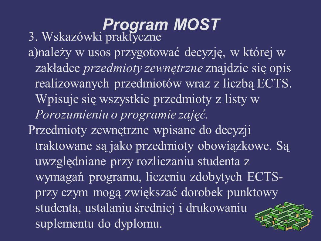 Program MOST 3.
