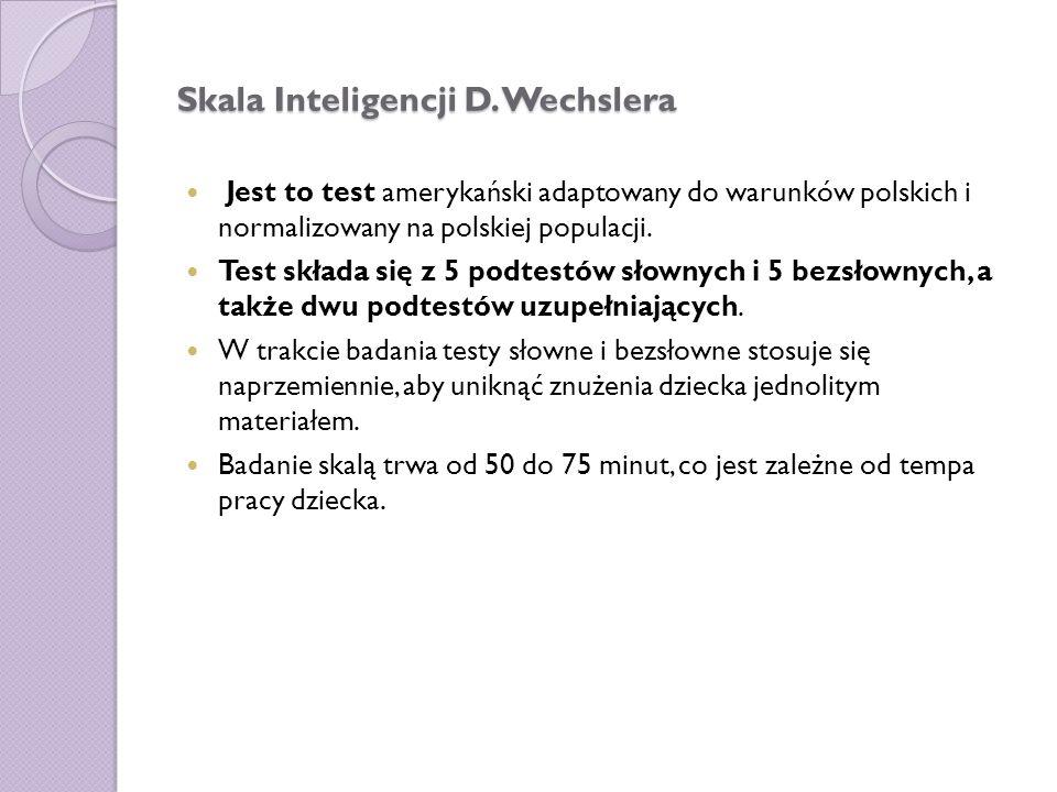 Skala Inteligencji D.