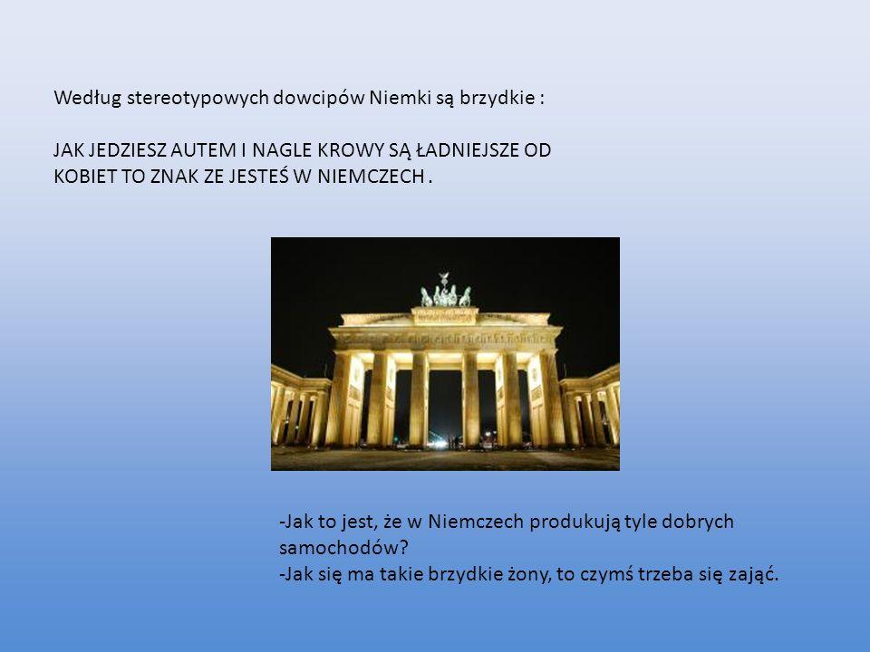 Stereotyp ten obraża wszystkie niemieckie kobiety, i jest całkowitym kłamstwem, gdyż są też piękne Niemki.