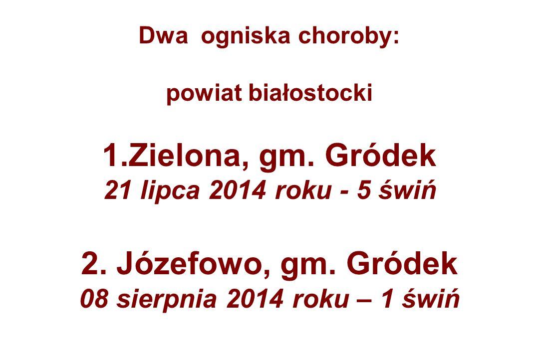 Dwa ogniska choroby: powiat białostocki 1.Zielona, gm.