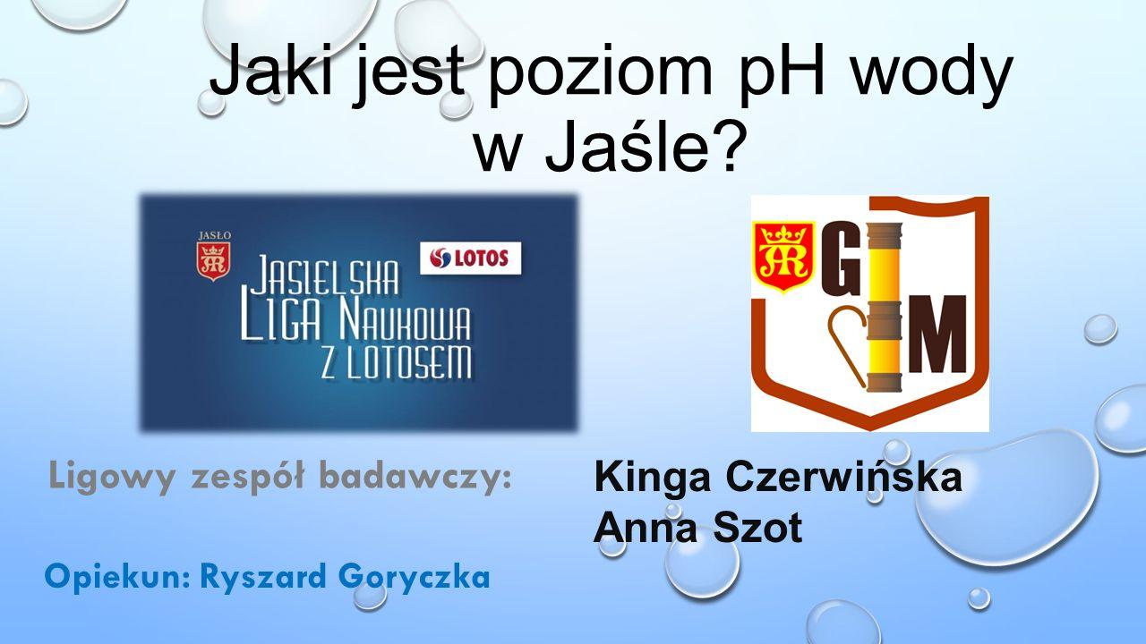 Jaki jest poziom pH wody w Jaśle.