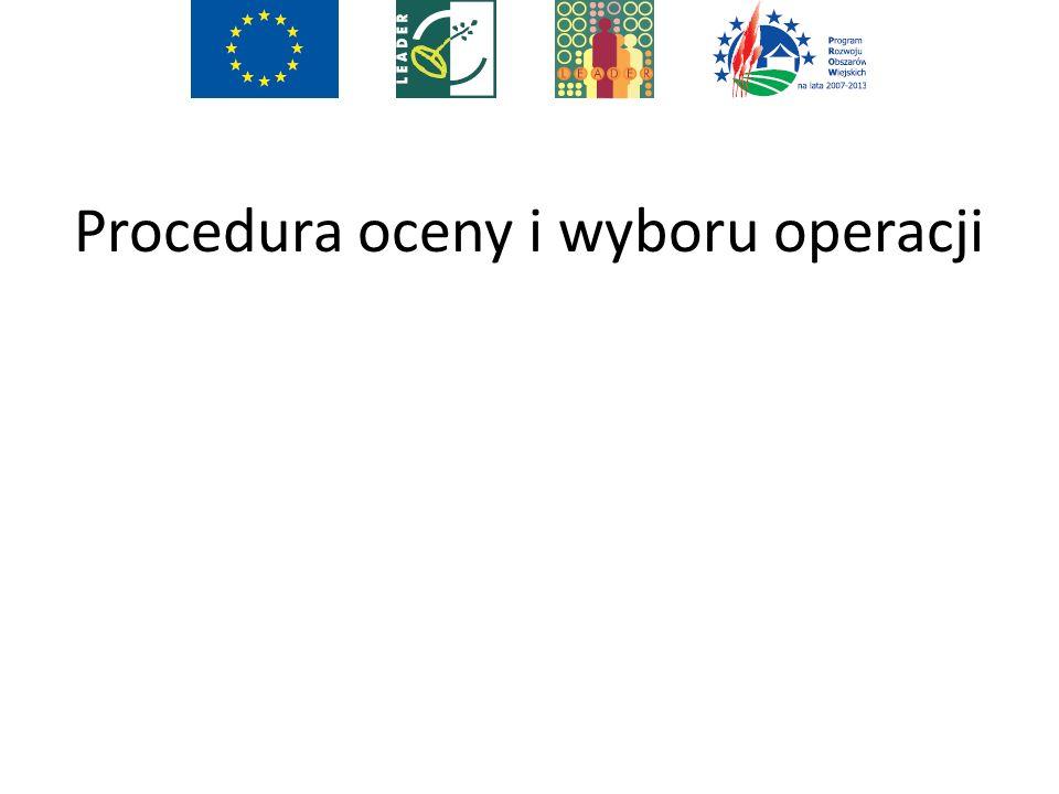 Procedura oceny i wyboru operacji