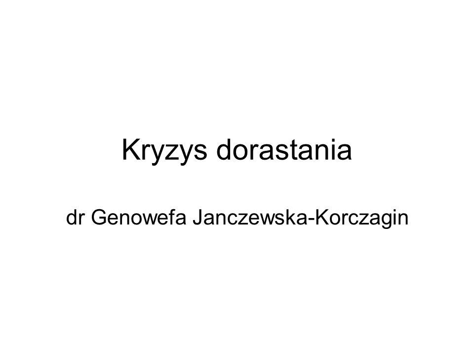 Kryzys dorastania dr Genowefa Janczewska-Korczagin