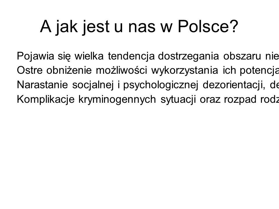 A jak jest u nas w Polsce? Pojawia się wielka tendencja dostrzegania obszaru nierówności materialnych. Ostre obniżenie możliwości wykorzystania ich po