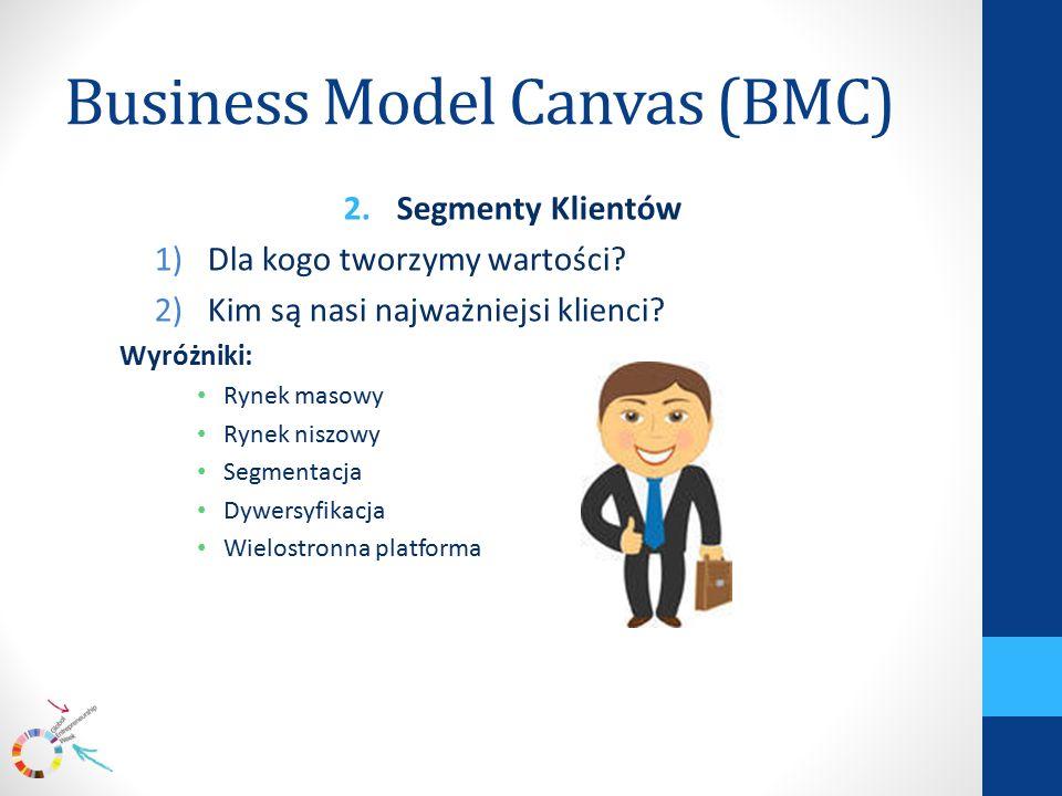 Business Model Canvas (BMC) 2.Segmenty Klientów 1)Dla kogo tworzymy wartości.