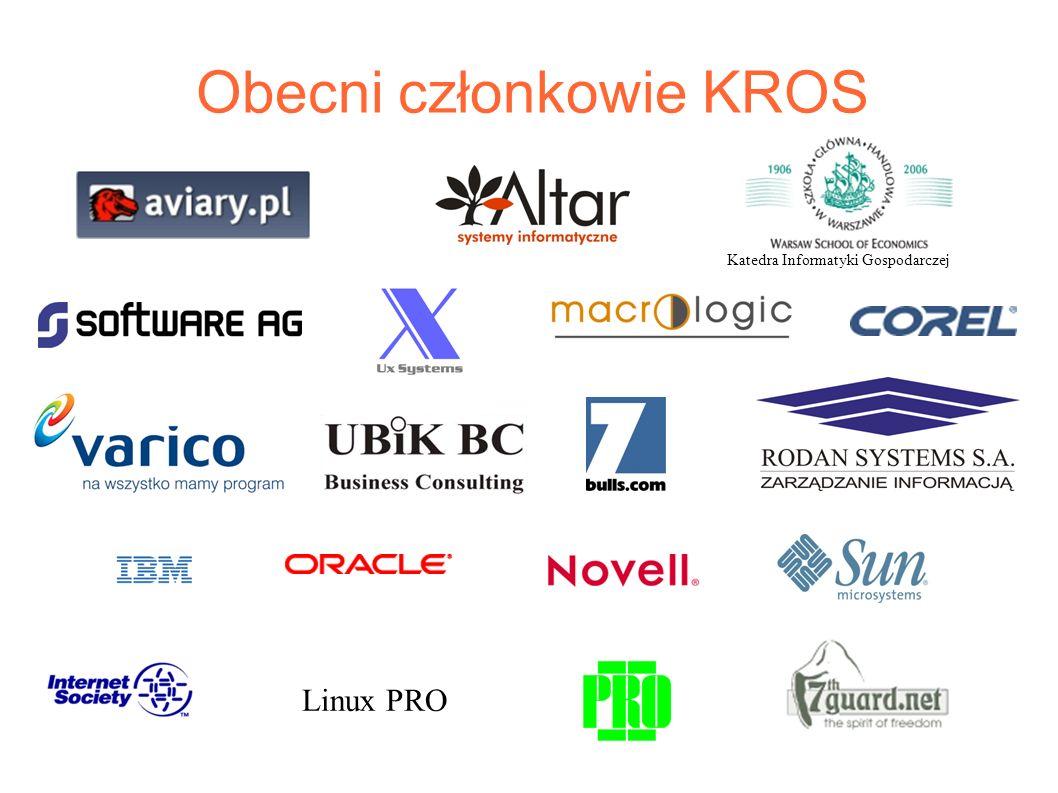 Obecni członkowie KROS Linux PRO Katedra Informatyki Gospodarczej