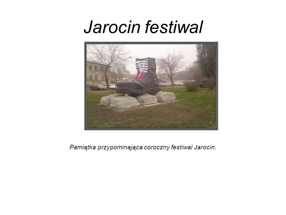 Jarocin festiwal Pamiątka przypominająca coroczny festiwal Jarocin.