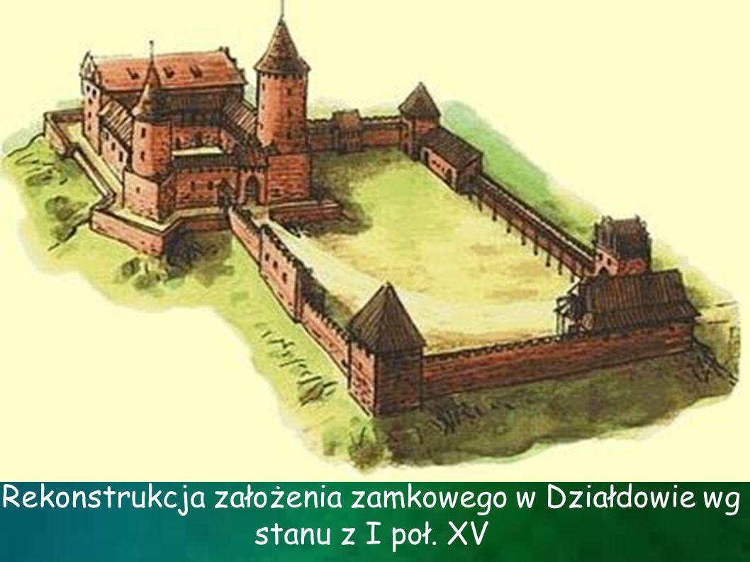 Rekonstrukcja założenia zamkowego w Działdowie wg stanu z I poł. XV