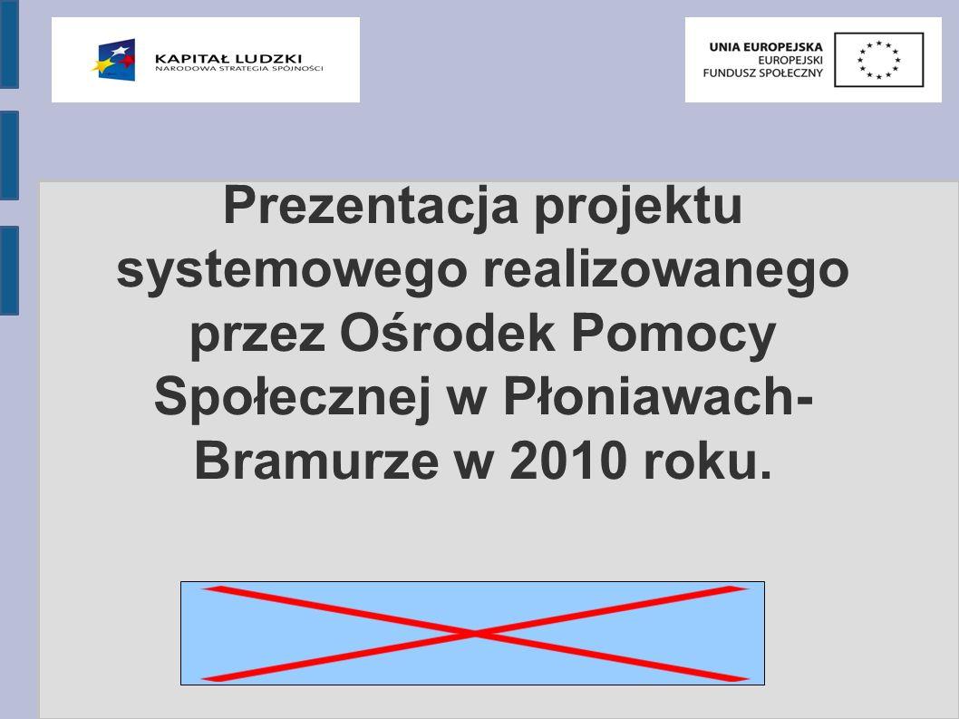Prezentacja projektu systemowego realizowanego przez Ośrodek Pomocy Społecznej w Płoniawach- Bramurze w 2010 roku.