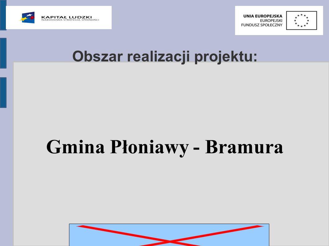 Obszar realizacji projektu: Gmina Płoniawy - Bramura
