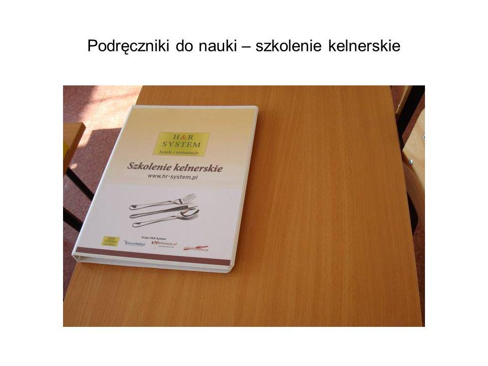Podręczniki do nauki – szkolenie kelnerskie