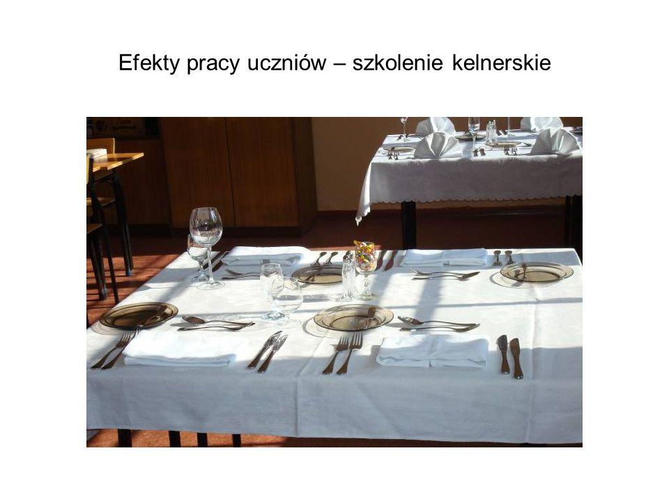 Efekty pracy uczniów – szkolenie kelnerskie