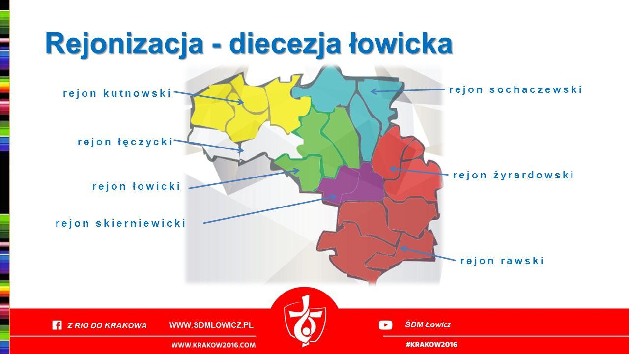 Rejonizacja - diecezja łowicka rejon żyrardowski rejon rawski rejon sochaczewski rejon łęczycki rejon kutnowski rejon łowicki rejon skierniewicki