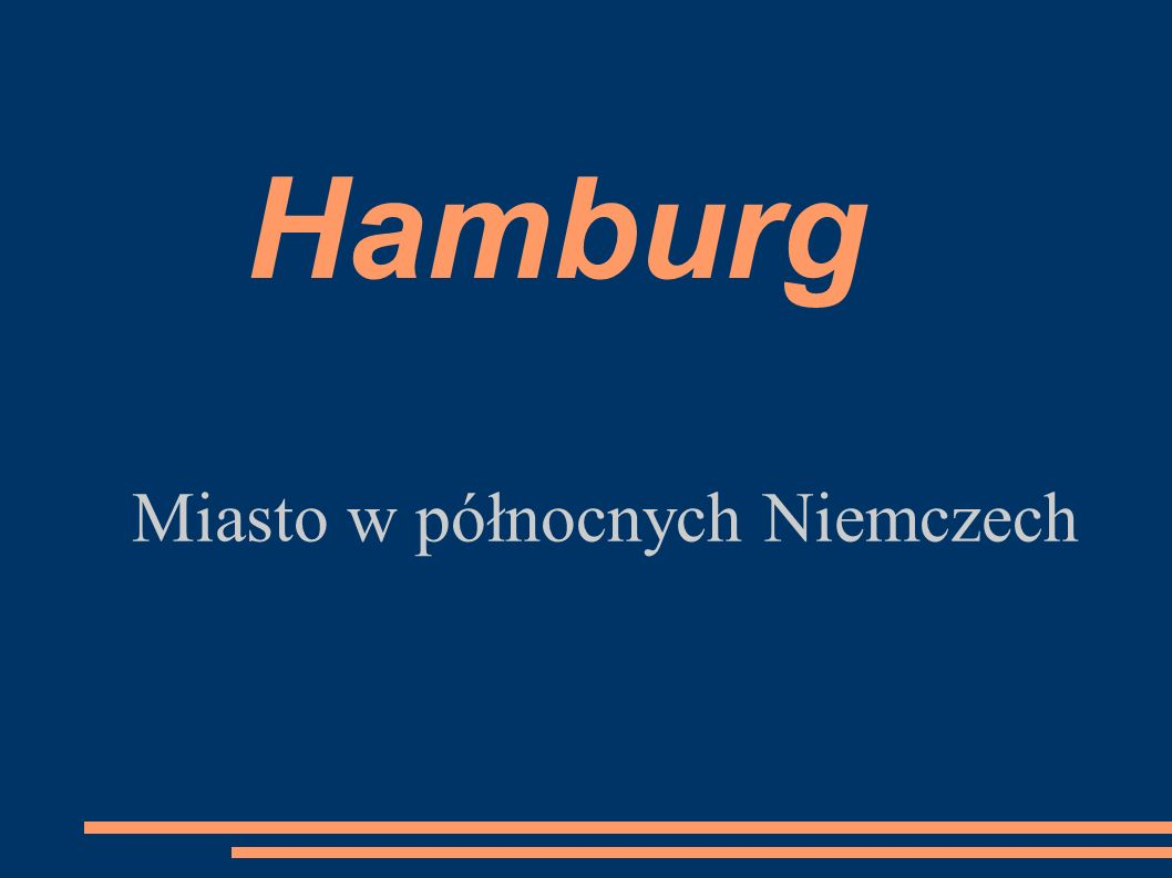 Hamburg Miasto w północnych Niemczech
