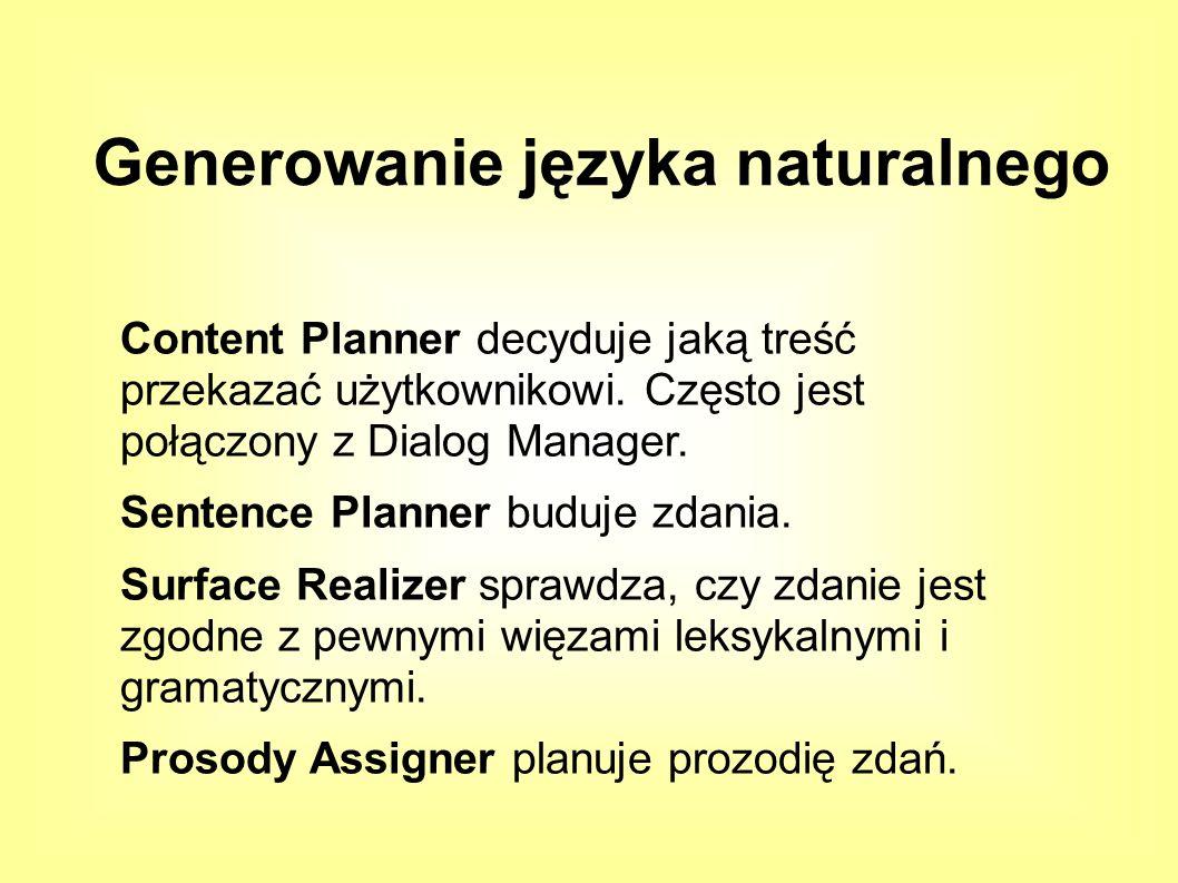 Content Planner decyduje jaką treść przekazać użytkownikowi.