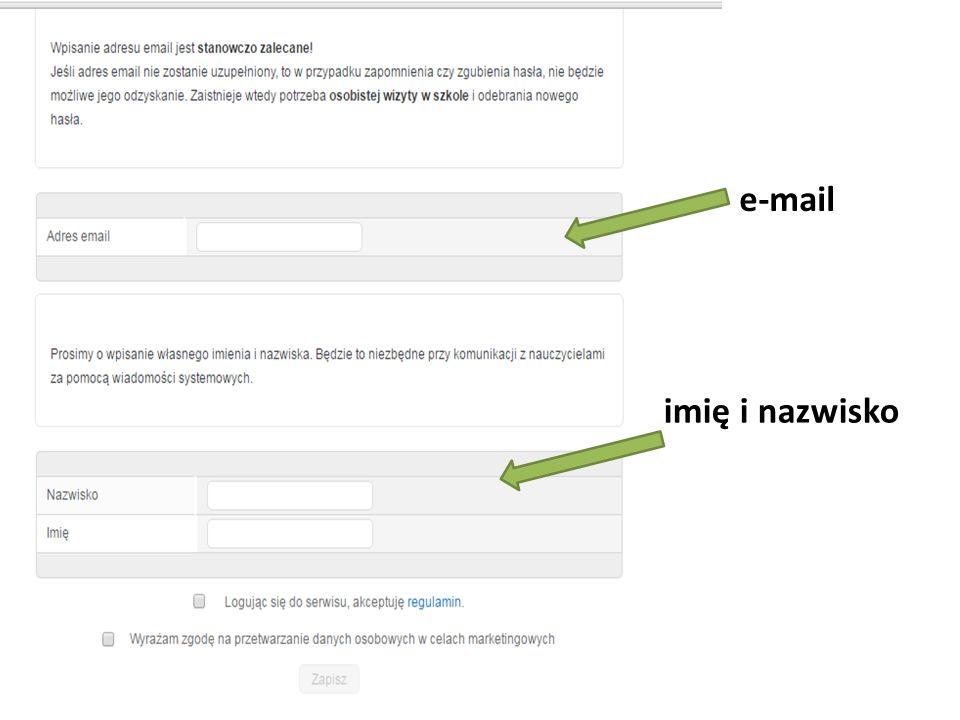 e-mail imię i nazwisko
