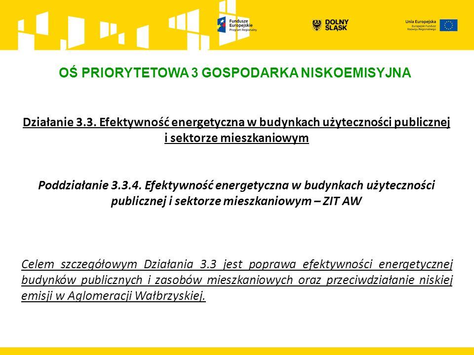 OŚ PRIORYTETOWA 3 GOSPODARKA NISKOEMISYJNA Działanie 3.3.