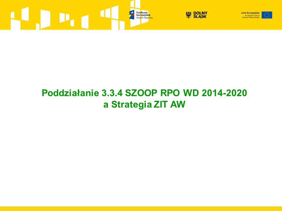 Poddziałanie 3.3.4 SZOOP RPO WD 2014-2020 a Strategia ZIT AW