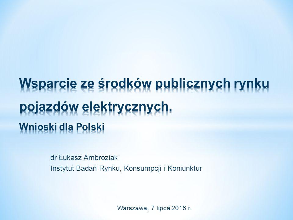 dr Łukasz Ambroziak Instytut Badań Rynku, Konsumpcji i Koniunktur Warszawa, 7 lipca 2016 r.