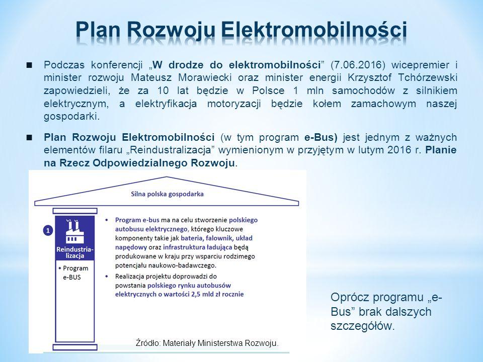 """Podczas konferencji """"W drodze do elektromobilności"""" (7.06.2016) wicepremier i minister rozwoju Mateusz Morawiecki oraz minister energii Krzysztof Tchó"""