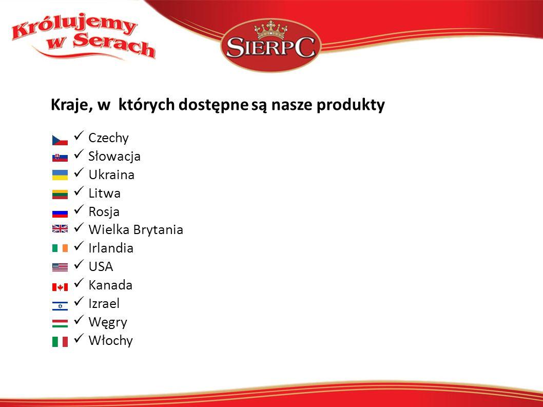Kraje, w których dostępne są nasze produkty Czechy Słowacja Ukraina Litwa Rosja Wielka Brytania Irlandia USA Kanada Izrael Węgry Włochy