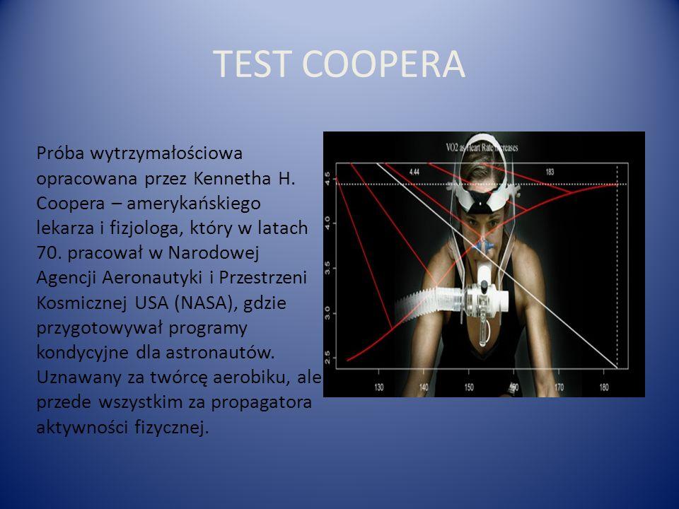 TEST COOPERA Próba wytrzymałościowa opracowana przez Kennetha H.