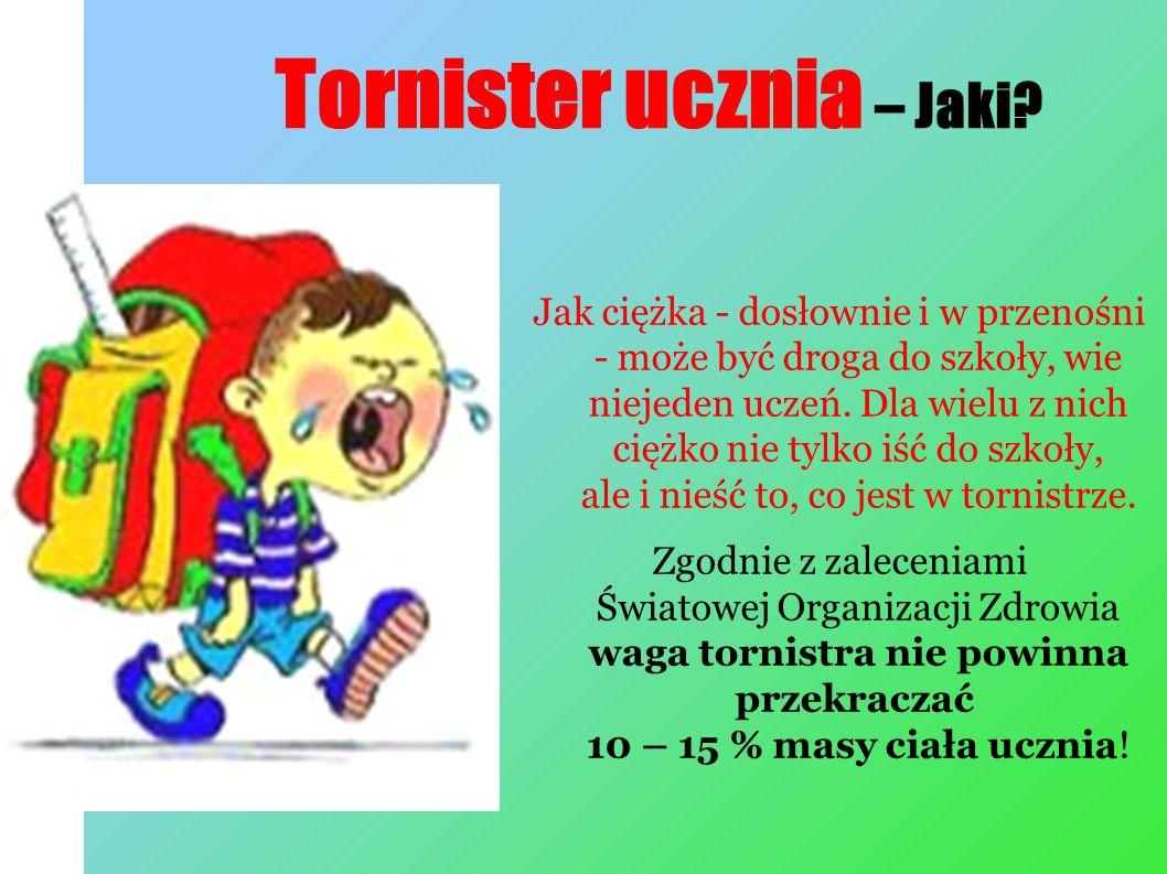 Tornister ucznia – Jaki.
