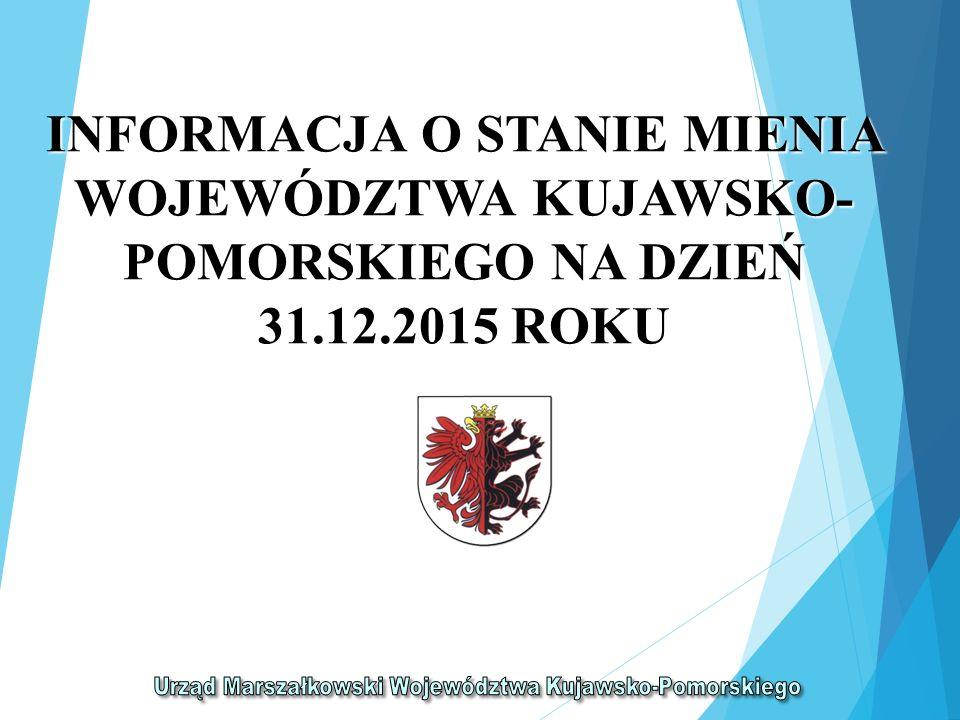 INFORMACJA O STANIE MIENIA WOJEWÓDZTWA KUJAWSKO- POMORSKIEGO NA DZIEŃ 31.12.2015 ROKU