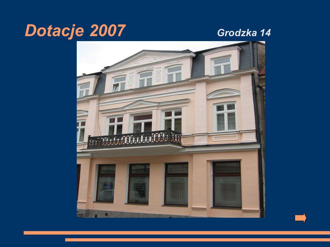 Dotacje 2007 Grodzka 14