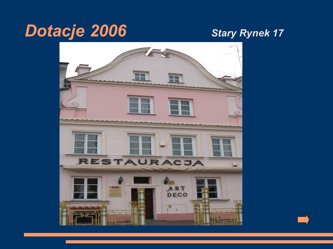 Dotacje 2006 Stary Rynek 17