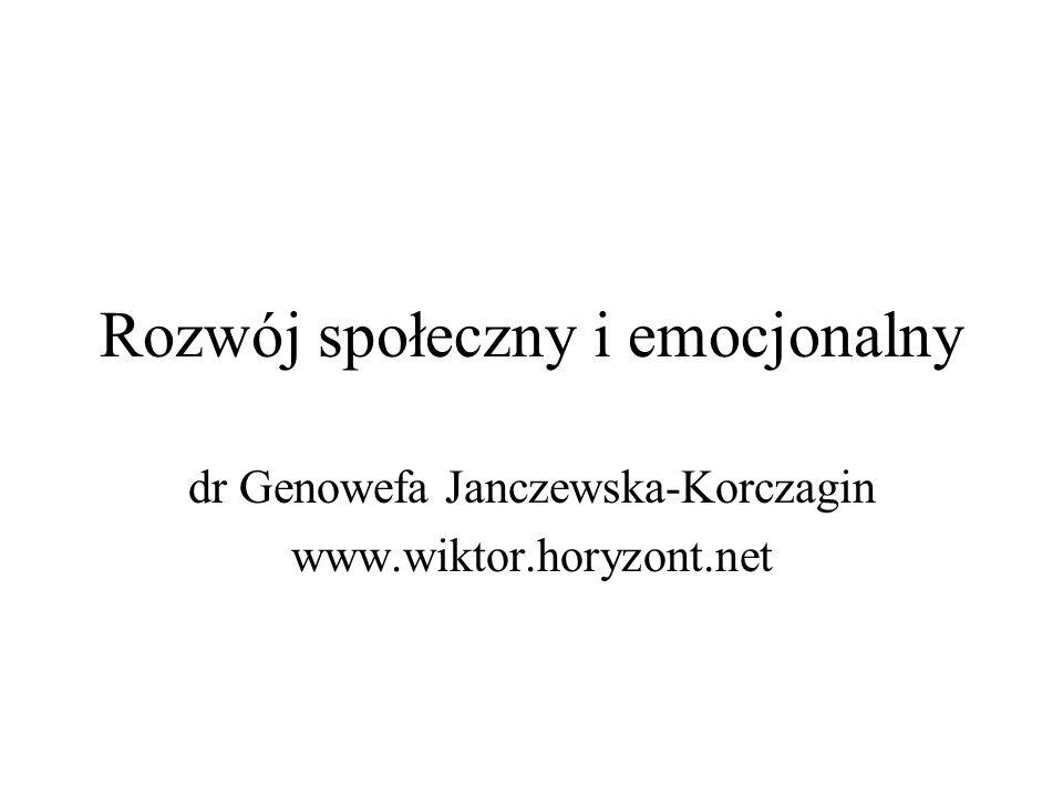 Rozwój społeczny i emocjonalny dr Genowefa Janczewska-Korczagin www.wiktor.horyzont.net