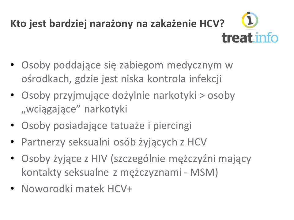 Kto jest bardziej narażony na zakażenie HCV.