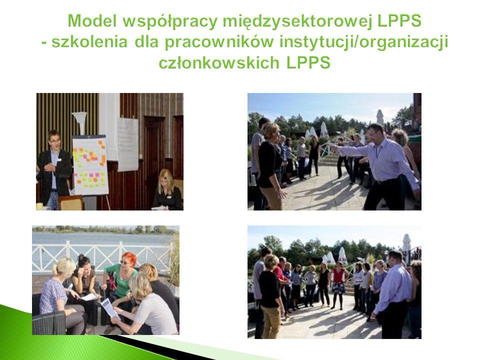 Model współpracy międzysektorowej LPPS - szkolenia dla pracowników instytucji/organizacji członkowskich LPPS