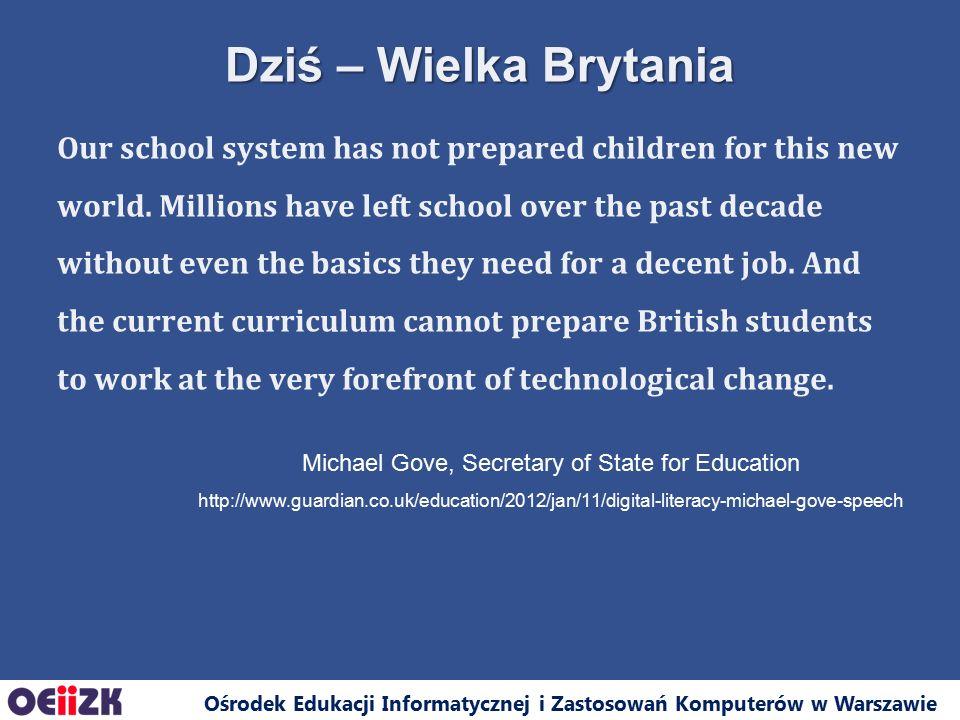 Ośrodek Edukacji Informatycznej i Zastosowań Komputerów w Warszawie Dziękuję za uwagę